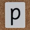 Tile Letter p