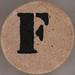 studio g Stamp Set Stencil Letter F