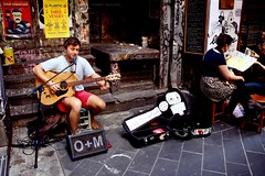 Barefoot Busker from a Melbourne Alley photo by Sparkey Davis