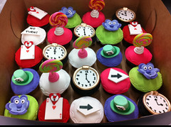 Alice in Wonderland Cupcakes photo by Mighty Fine Cakes