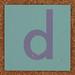Cardboard letter d