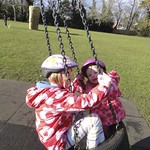 On the tyre swing together<br/>19 Feb 2012