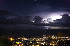 Lightning as seen from zomba mountain photo by Mr_Stone.