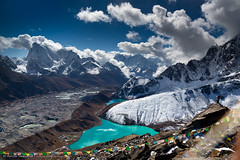 View from the Gokyo Peak (5,357 m) photo by Anton Jankovoy (www.jankovoy.com)