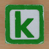 Wooden Brick Letter k