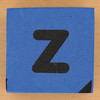 Blue foam brick letter z