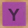 Foam brick letter Y