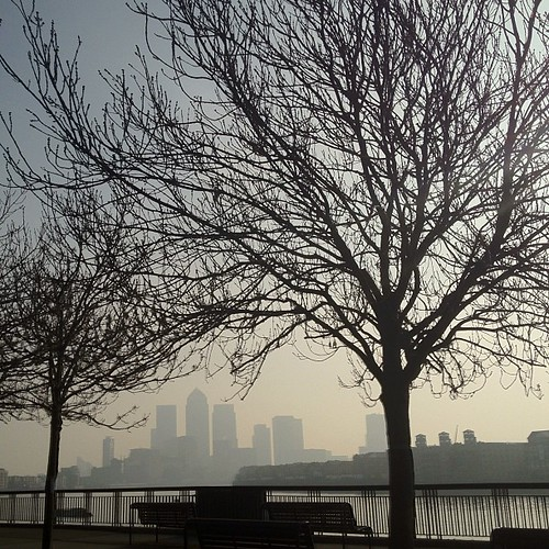 Super hazy in London today #nofilter