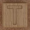Wooden brick letter T