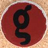 Cardboard Letter g