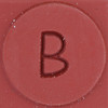 Rubber Stamp Letter B