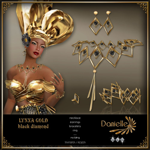DANIELLE Lynxa Gold ~ Black Diamond