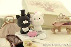 LOVE ANGELS Wedding Cake Topper-love cat,love kitty photo by charles fukuyama