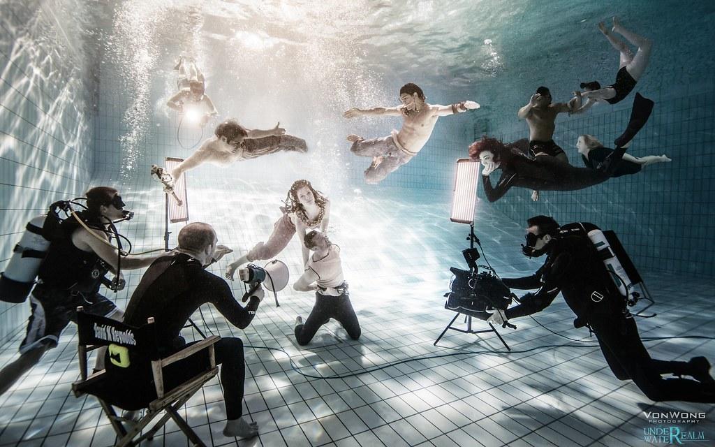 Von Wong shoots the Underwater Realm photo by Von Wong