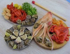 Dollhouse Miniature Seafood Collection photo by Shay Aaron