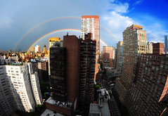 Rainbow over New York City photo by benalesh1985
