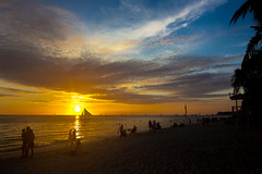 长滩岛的落日   Sunset at Boracay [Explore 28.04.2014 Thank you all] photo by Owen Wong (Bad connection, can't cmt & fav, sorry)