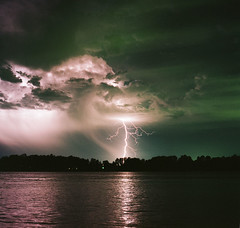 lightning at sauvie island photo by Olivia La Roche