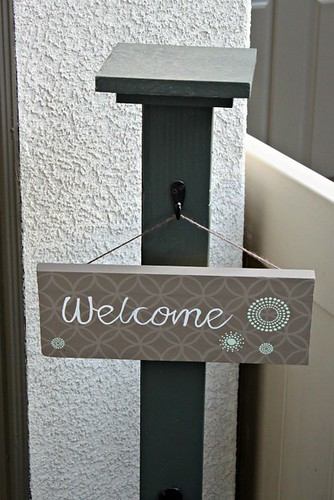 Diy Hand Painted Welcome Sign Changing My Destiny
