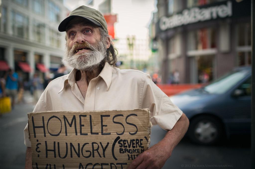 Cpt. Kirk, the Soulful Homeless Man photo by Pichaya V. (Zolashine)