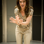 Deborah Staples in THE BLONDE, THE BRUNETTE, AND THE VENGEFUL REDHEAD at Writers Theatre. Photo by Michael Brosilow.