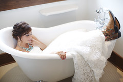 Bride in the Bath photo by blazin glory
