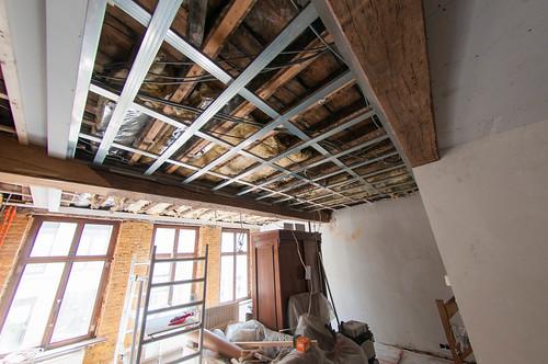 Voorbereidingen voor plafond