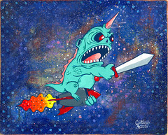 SPACE ANGLER painting photo by macula1