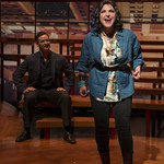 Thom Miller (Robert) and Christine Mild (Marta) in COMPANY at Writers Theatre. Photo by Michael Brosilow.