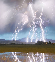Massive Lightning Storm Striking Longs Peak Foothills 4C photo by Striking Photography by Bo Insogna