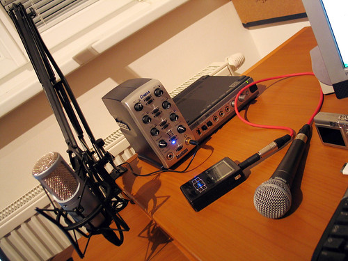 Einblick ins Wörthersee-Podcasting-Studio in Downtown Klagenfurt
