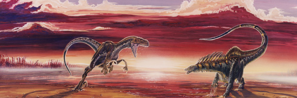 Megaraptor Attacking Amargasaurus