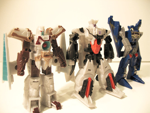 Legends of Cybertron Vector Prime, Galvatron, and Soundwave