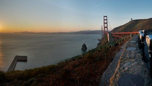 San Francisco and Golden Gate at sunrise