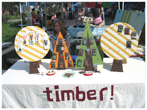 Renegade craft fair -timber display