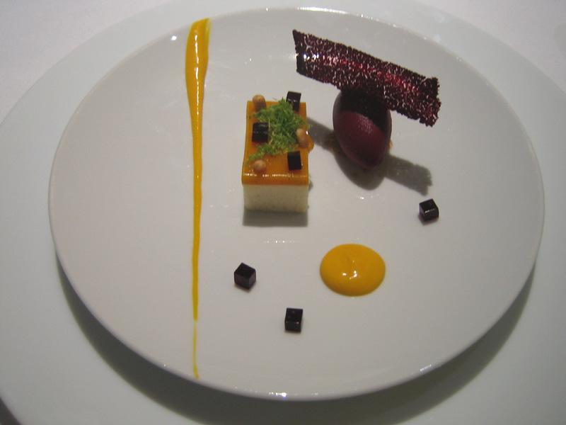 Fat Duck - Mango & Douglas Fir Puree w/ Blackcurrent Sorbet