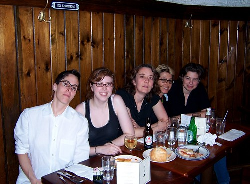 Fries and booze with Alison Bechdel, Jen Camper and Joan Hilty
