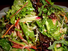 Wild Greens & Wild Salmon Salad Up-Close