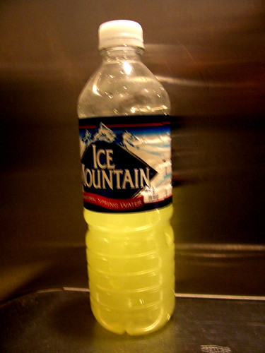 Bottle o' piss?