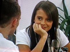 Scouser Jennie eyes up Dub Spiral on their first night on Big Brother.
