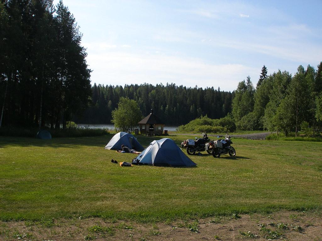 Camping in Koupori, Finland