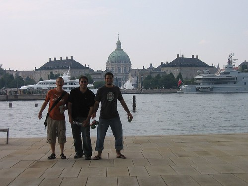 All of us in front of Amalienborg