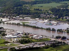 Fonda Fair Grounds Flooded by the Mohawk River on June 28, 2006.