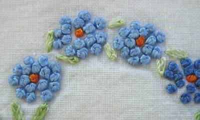 french knot closeup