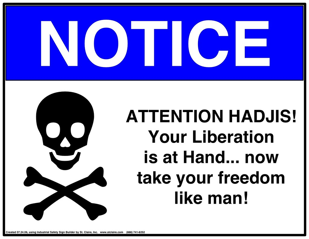 Warning sign - hadjis