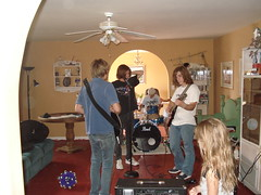 Band practice at the Moran's