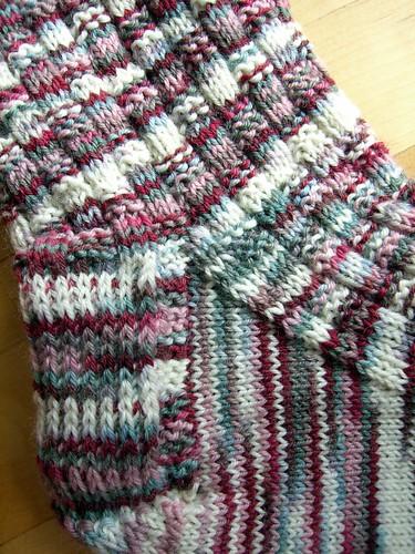 Parfait Basket Weave Rib Socks