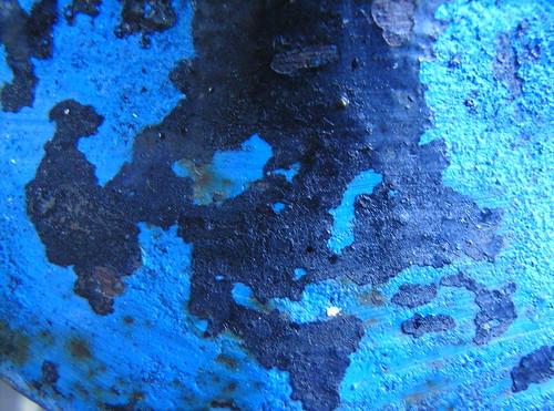 Flaking Blue Paint