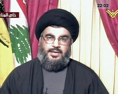 Hassan Nasralla, Secretary General of Hizbollah speaking on al Manar TV on August 3, 2006 threatening to strike at Tel Aviv and calling for a political solution to the conflict