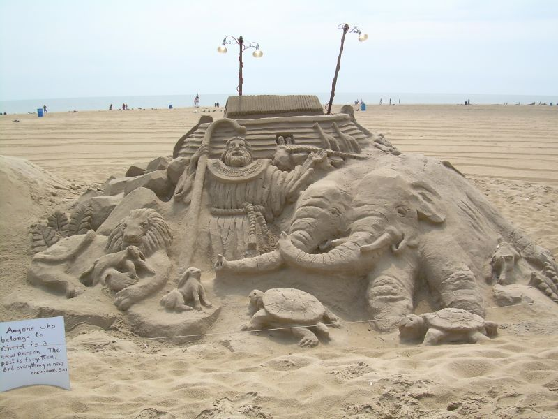 Noah's Ark in the sand